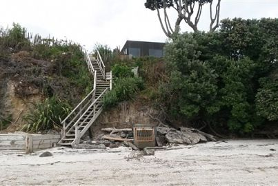 Rickety steps to beach